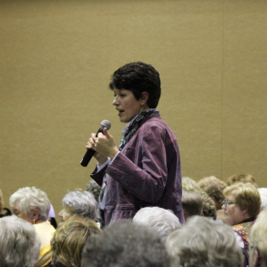 Heather Whittaker speaking at a State Conference