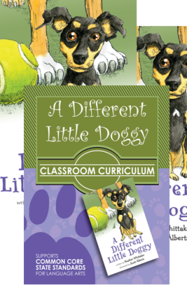 A Different Little Doggy children's book and classroom curriculum